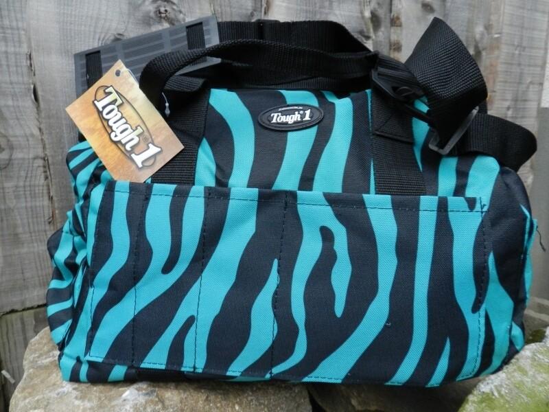 Tas in blauwe zebra print