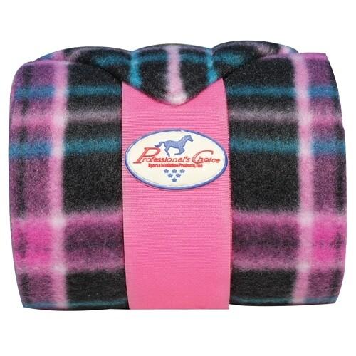 Fleece bandage zwart/roze Prof Choice