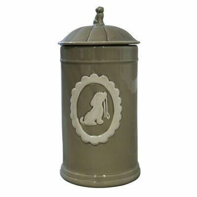 Pot céramique taupe