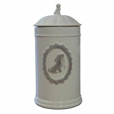 Voorraadpot keramiek (wit)