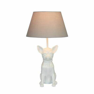 Lamp Chihuahua Glanzend Wit