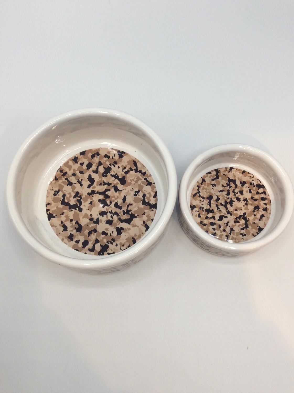 Cheetah Bruin Eet/Drinkpot Ø9 Ø12