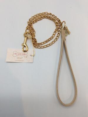 Chain Lead Beige