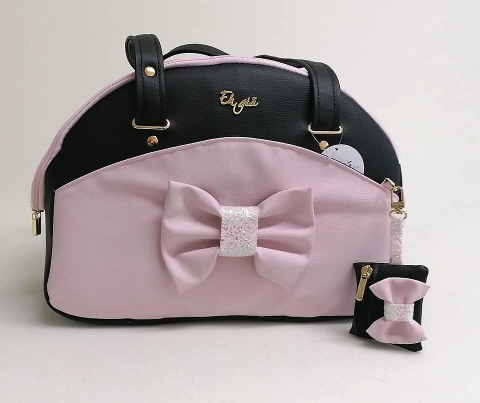 Traveller Bag Pink/Black +Poopbag