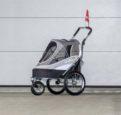Sporty Dog Trailer gris