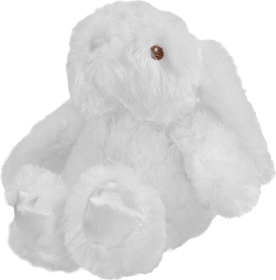 zacht konijn wit 20cm