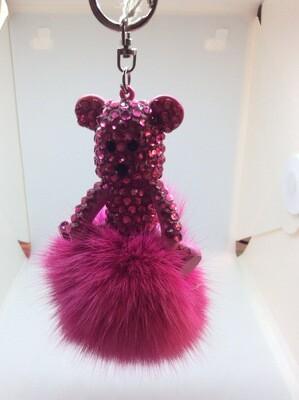 Ours avec des paillettes rose