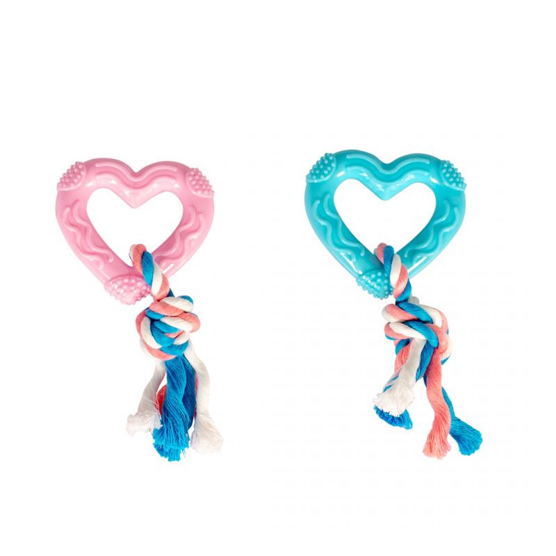 Puppy hart met touw