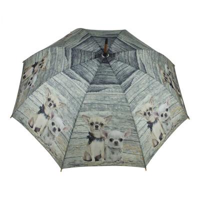 Parapluie Teck 2 Chihuahuas