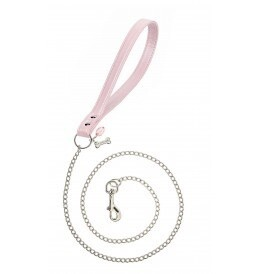 Chain lead pink silver
