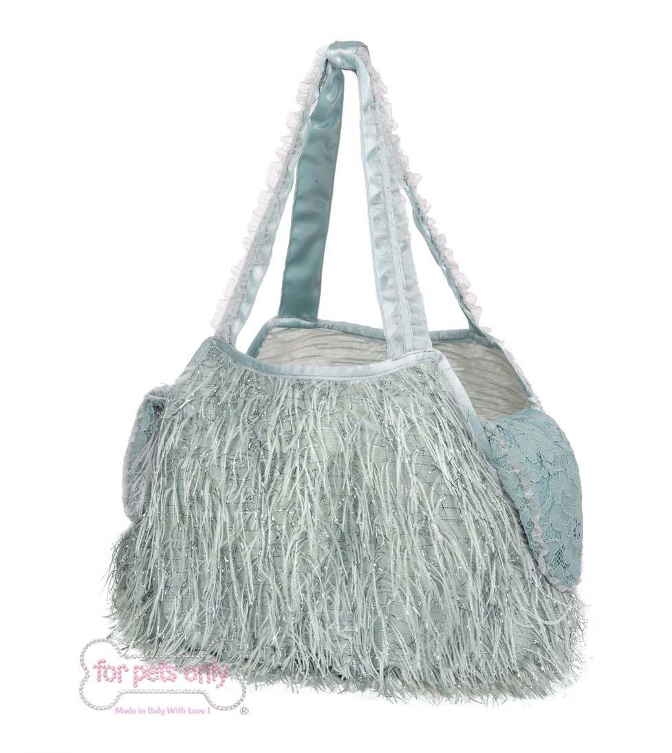 Feather Bag Blue + Inner Bag