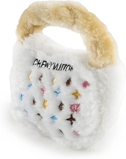 White Chewy Vuiton Handbag L