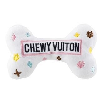 White Chewy Vuiton Bone L