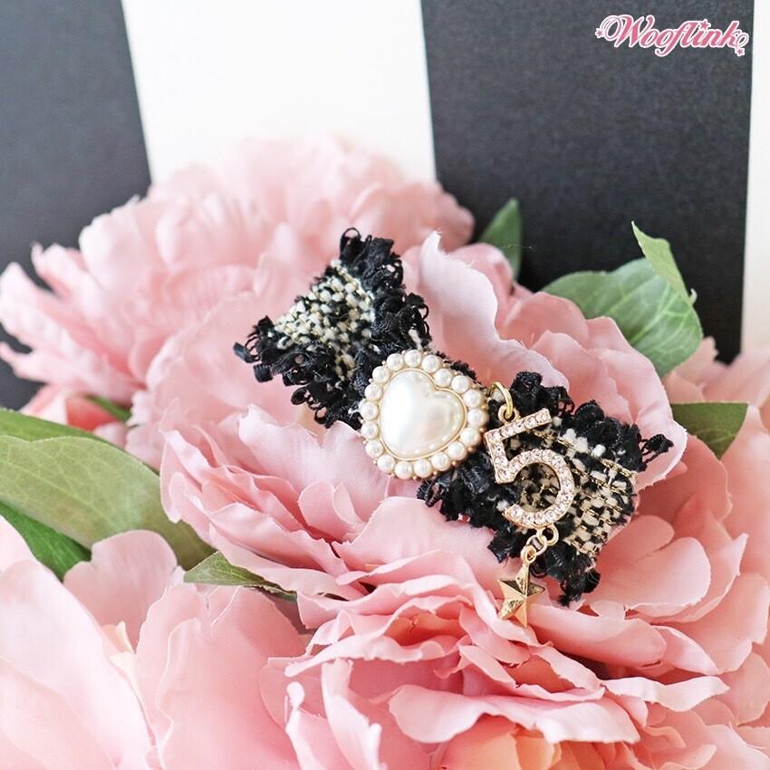 Tweed bow black