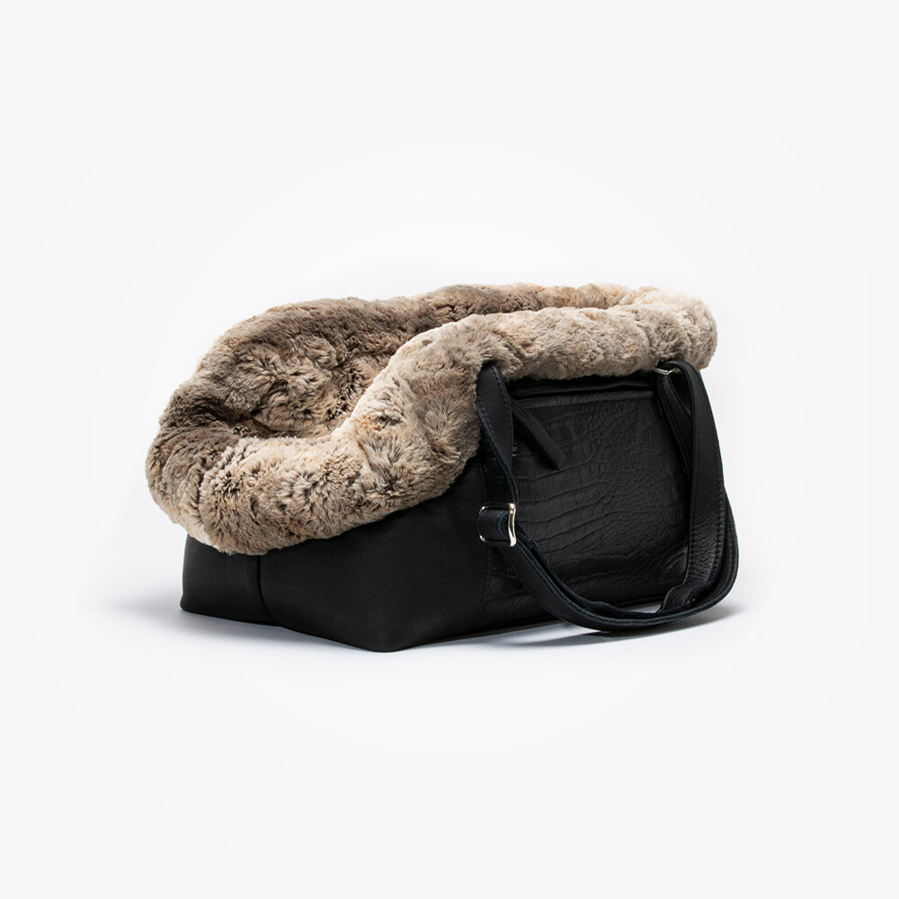 Dog carrier Aloké croco black