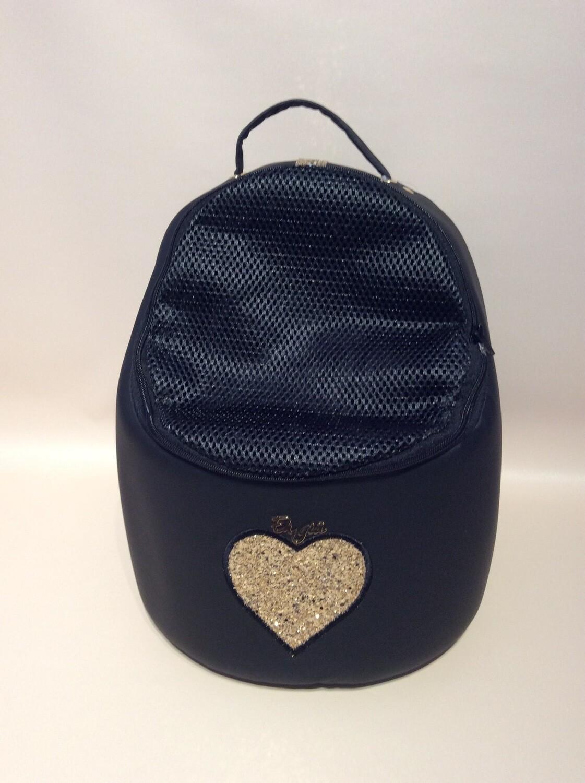 Traveller Egg black + mega heart gold