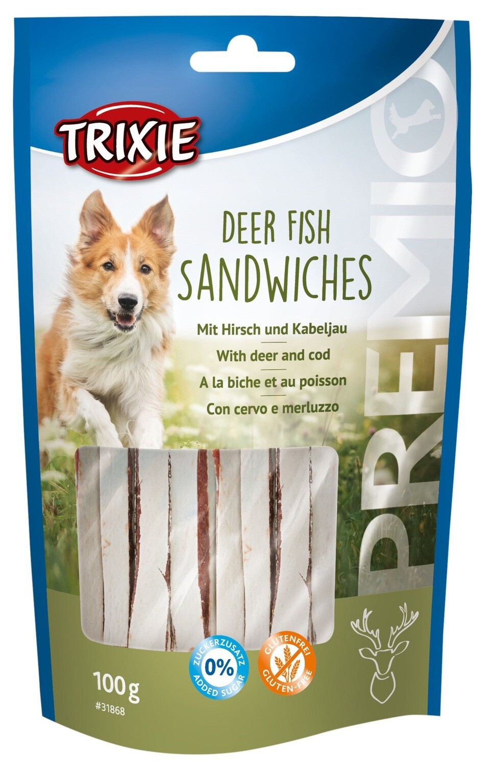 Deer fish sandwiches