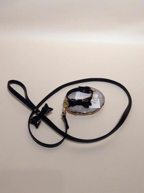 Creme de noir collar 25 cm + leash