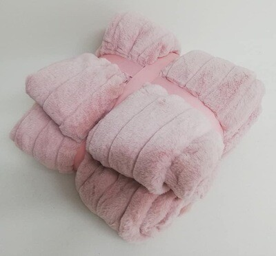 Blanket pink lines 150x200