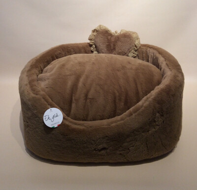 Fluffy high bed taupe