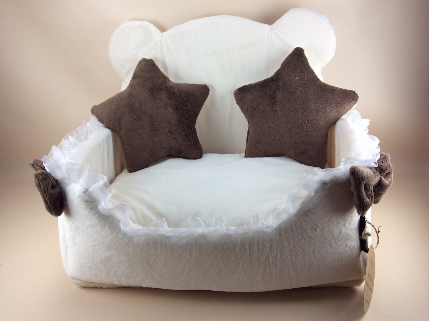Cute Teddy bed creme/choco