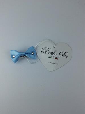 Bow tie sky hair clip