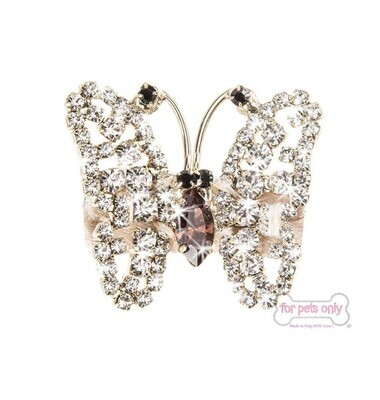 Butterfly cristal hairclip