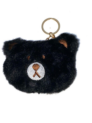 Sleutelhanger beer zwart
