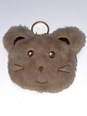 Sleutelhanger muis grijs