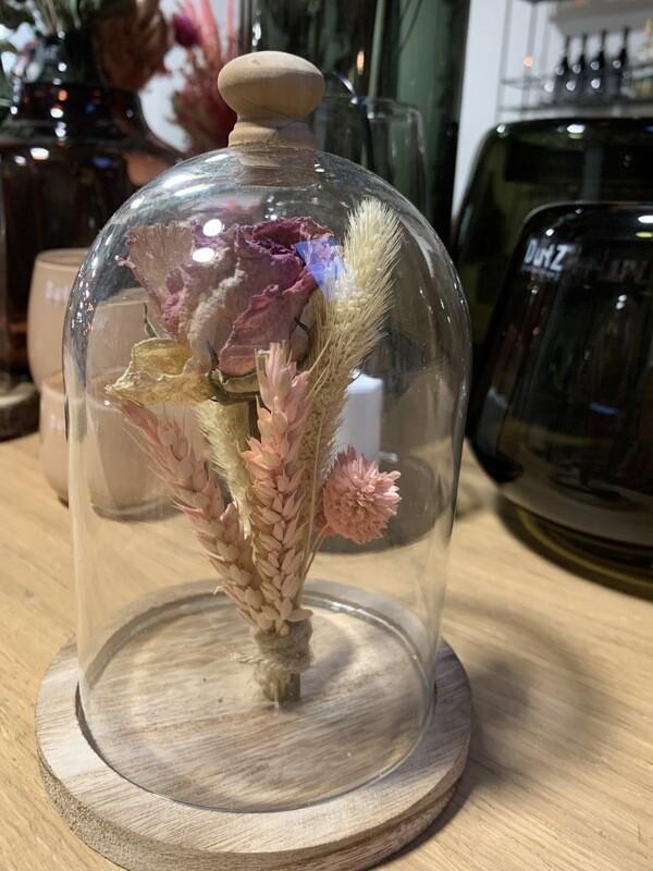 Stolp Met Droogbloemen Small