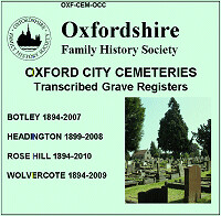 Oxford City Cemetery Grave Registers