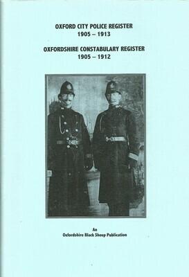 Oxon & City Police Register 1905 etc