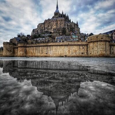 """""""Le miroir du Mont Saint Michel"""""""