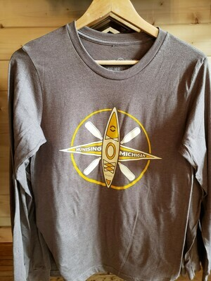 Kayak Heather Brown Long Sleeve