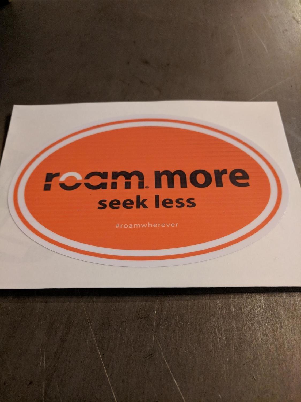 roam round Orange sticker