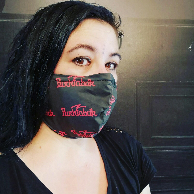 Stoffmaske Mund-Nasen-Maske aus Baumwollstoff waschbar wiederverwendbar