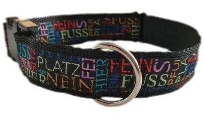 Hunde-Halsband verstellbar in verschiedenen Farben und Größen