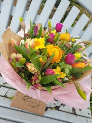 Friday flowers - seasonal bouquet for local delivery or collection