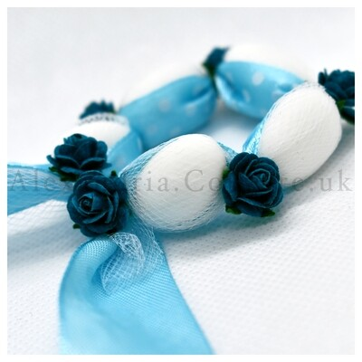 Blue Wreath Bombonieres