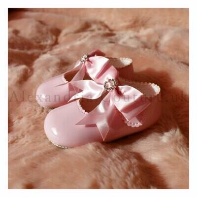 Pink Bow & Diamante