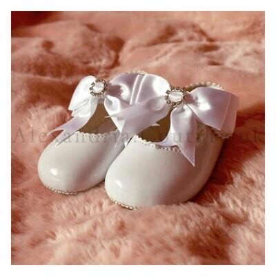 White Bow & Diamante