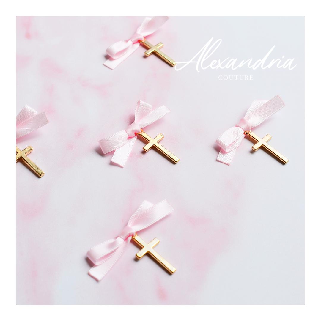 Gold Cross & Pink Ribbon Martirika