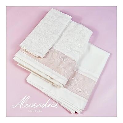 Blush Pink Lace Miropania Set