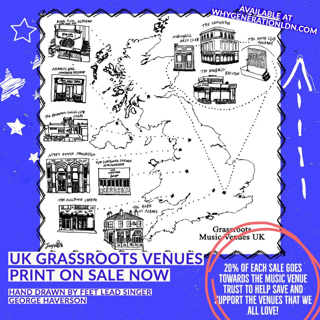 Grassroots Venues Map Print