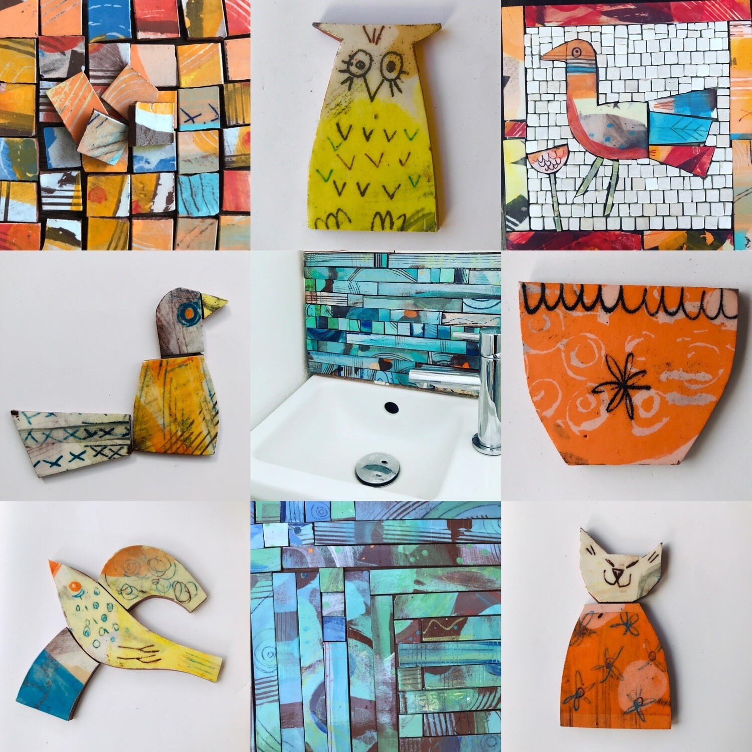 Gift card, for mosaics art, jewellery and courses