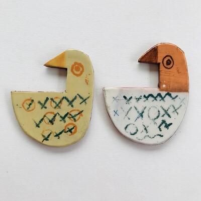 Bird twins - 75 x 55 x 4mm