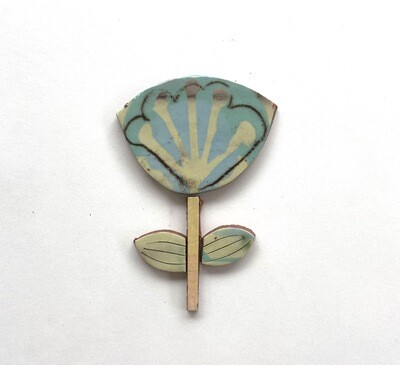 Funky flower - 95 x 65 x 4mm - 4 pieces 1 flower