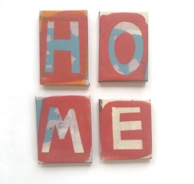 Home letters - 60 x 40 x 4mm - 4 pieces