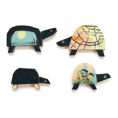 Slow tortoises, 50 x 35 x 4mm - 4 pieces, 5 options