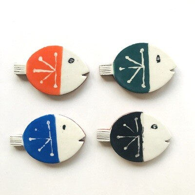 Fab round fish - in 4 colours